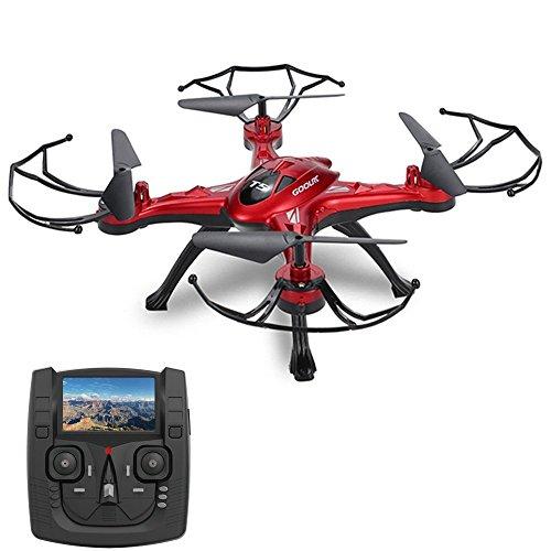 GOOLRC T5G DRONE CON CAMARA 2 0MP HD 5 8G WIFI FPV RC QUADCOPTER 2 4GHZ 4CH 6 EJES GIROCOMPAS CON FUNCIONES DE RETORNO UNA-TECLA MODO CF 360 ° EVERSION