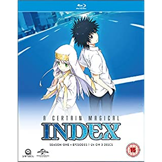 A Certain Magical Index Complete Season 1 Collection (Episodes 1-24) Blu-ray [UK Import]
