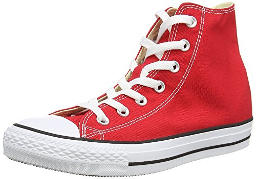 Converse All Star Hi Men's Shoes Red m9621 (7 M US) (Hat Patch Converse)