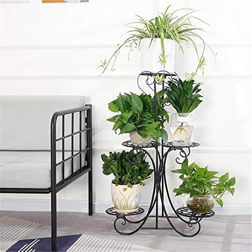 Exing flower stand, multi-storey balcone al coperto carnosa vaso per fiori in ferro soggiorno in legno salvaspazio per piante stand a piantana fioriera verticale vaso per fiori (colore : c)