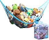 MiniOwls Spielzeugaufbewahrungs-Hängematte X-Large-Organizer und Cluttering-Lösung für jedes Kinderzimmer, Kinderzimmer und Spielzimmer