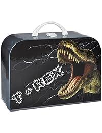 """Kinderkoffer Groß - """" Dino """" - 34 cm Teenie - Puppenkoffer Koffer Kinder Dinosaurier / Koffer Urzeit Dinos"""