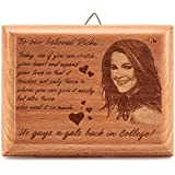 Presto® Personalized Engraved Wooden Photo Plaque Frame Gifts For Crafts With Quotes For 1st Anniversary 25th Happy Birthday Girl Friend Or Boy Friend Love Couple (5 Inch X 4 Inch)
