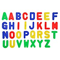 Simba 104591456 Alphabet Fridge 31 Pieces 3.2cm High Magnetic Capital Letters   Bright Vibrant Colours   Made of Durable, Safe Plastic   Ages 3+, Multicoloured
