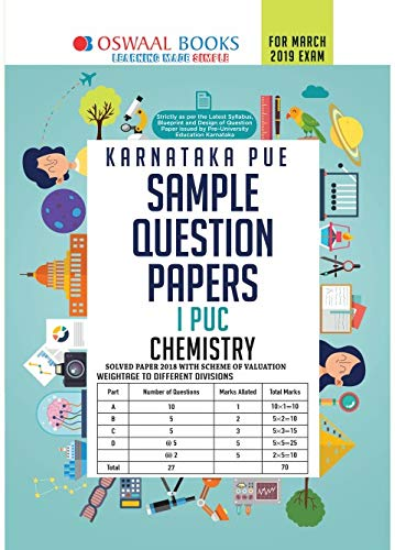 Oswaal Karnataka PUE Sample Question Papers For PUC I Chemistry (March 2019 Exam)