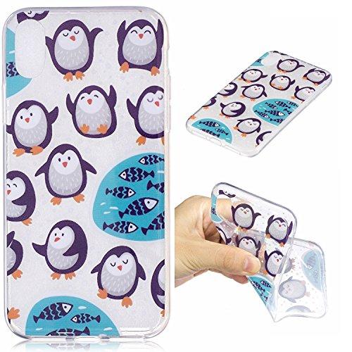 Custodia iphone X/ iphone 10 - Cover iphone X/ iphone 10 - Cozy Hut Case per iphone X/ iphone 10 [Ultra-Thin] Air Skin [Soft Clear] Premium Semi-transparent Super Lightweight, Custodia per iphone X/ i Pinguini artici