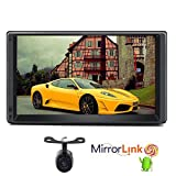 Doppio DIN stereo con Android 5.1 Lollipop Quad-Core CPU auto radio in Precipitare 17,8 cm schermo multi-touch auto Player supporto GPS Navigation WiFi specchio collegamento USB sistema di intrattenimento 3 G/4G OBD Headunit include telecamera per la retromarcia