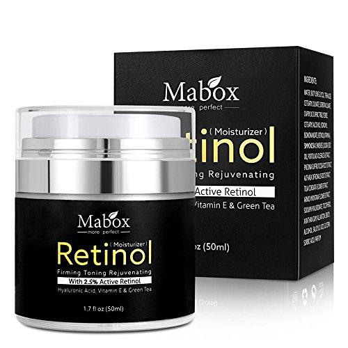 Crema hidratante para rostro con retinol de Pawaca fórmula antienvejecimiento que reduce las arrugas y líneas finas crema con retinol con vitamina A D E 50 ml con 2 5 % de retinol activo ácido hialurónico té verde