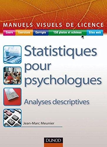 Manuel visuel de statistique pour psychologues (Manuels visuels de Licence)
