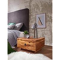 KS-Furniture Mumbai - Mesita de Noche de Madera Maciza Sheesham, 40 x 40