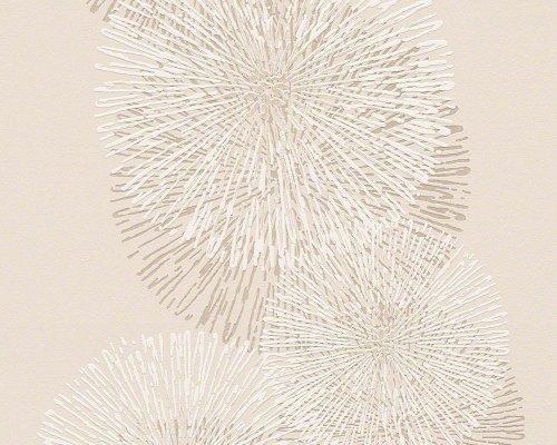 Schöner Wohnen Vliestapete, Mustertapete, floral, grafisch, beige, cremeweiß, signalweiß, 943592