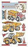 Edition Trötsch 39462 Wandsticker Baustelle mit Pop up Effekt, 8 Verschiedene Sticker