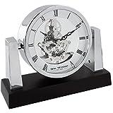 WM. Widdop, reloj de mesa esqueleto Dial árabe, atractivo y elegante aspecto clásico con un Twist