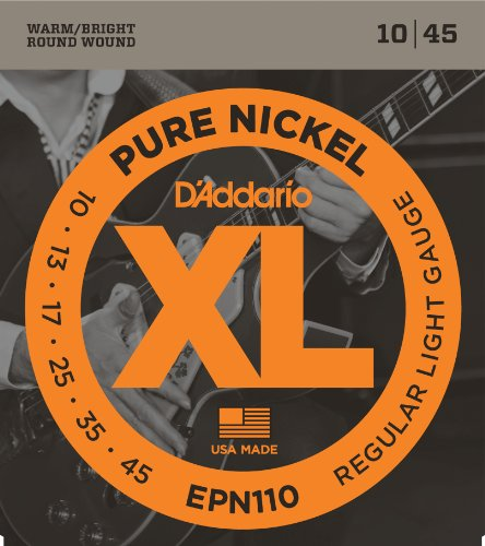 daddario-epn110-xl-pure-nickel-regular-light-010-045-electric-guitar-strings