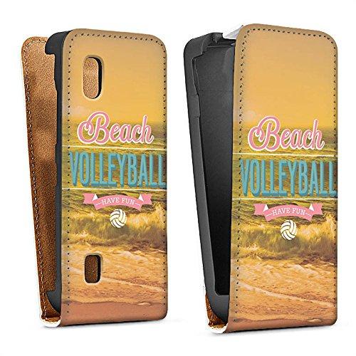 DeinDesign Nokia Asha 300 Tasche Schutz Hülle Walletcase Bookstyle Volleyball Strand Sommer