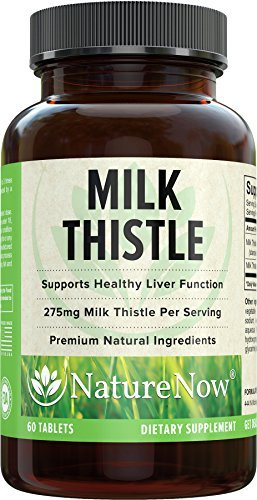 Milk Thistle Extract With Natural Silymarin Extract By NatureNow #1 Best Selling Health Supplement Made In The USA F