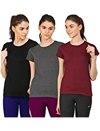 Ap'pulse Women's Short sleeve Round neck 3 pcs combo