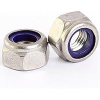 10 Bolt Base 3mm A2 Edelstahl Sechskantmuttern mit Nylon Einlage M3 X 0.5mm Gewindesteigung