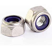 Bolt Base 3mm A2 Stainless Steel Nylon Insert Nyloc Nylock Lock Nuts M3 X 0.5mm Pitch - 50