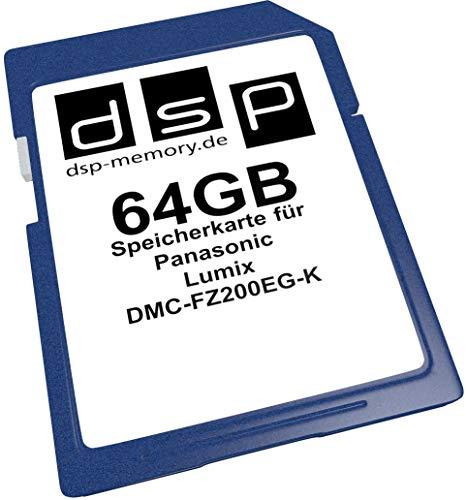 DSP Memory Z-4051557411272 64GB Speicherkarte für Panasonic Lumix DMC-FZ200EG-K (Memory Lumix Card-panasonic)