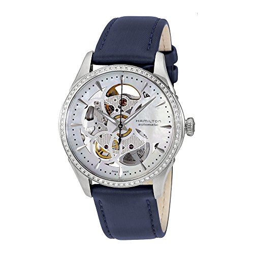 Hamilton Women's Watch Hamilton Jazzmaster Viewmatic Skeleton Lady Diamond h42405991 Leather Bracelet – hamilton-h42405991