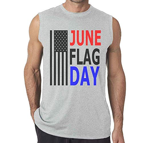 Birthday On June 14th Flag Day Mens Sleeveless Tank Top T Shirt Casual Gym Vest