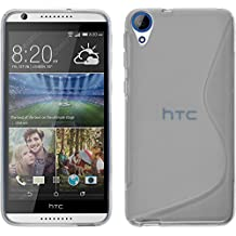 Funda de silicona para HTC Desire 820 - S-Style transparente - Cover PhoneNatic Cubierta + protector de pantalla