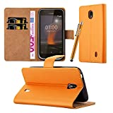 iCatchy For Nokia 1 Case - Wallet Book [Stand View] Card