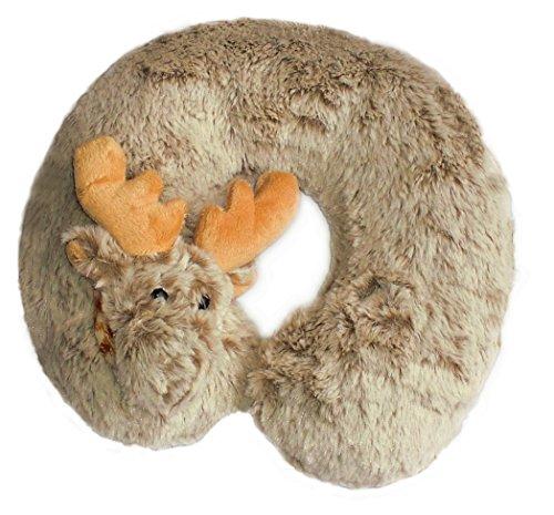 Inware 6794 - Nackenkissen Elch, beige/meliert, Nackenhörnchen