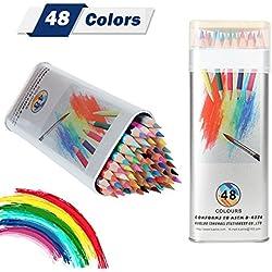 Lápices de colores Kasimir 48 lapices acuarelables lapiz colores profesional coloresPara Art Major Dibujo Niños Pintura Suministros de Oficina Escuela Adulto para Colorear Libros