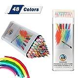 Aquarellstifte Kasimir 48 Stück Aquarell Buntstifte Set Ungiftige Farbstifte für Kinder Erwachsenen Künstler Erwachsenen Malen Zeichnen