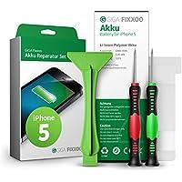 GIGA Fixxoo Batería iPhone 5, Kit de Reparación con Herramientas e Instrucciones