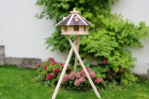 XXL Vogelhaus mit Ständer Typ 20 (braun/natur)