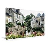 Premium Textil-Leinwand 90 cm x 60 cm quer, Bayeux | Wandbild, Bild auf Keilrahmen, Fertigbild auf echter Leinwand, Leinwanddruck (CALVENDO Orte)
