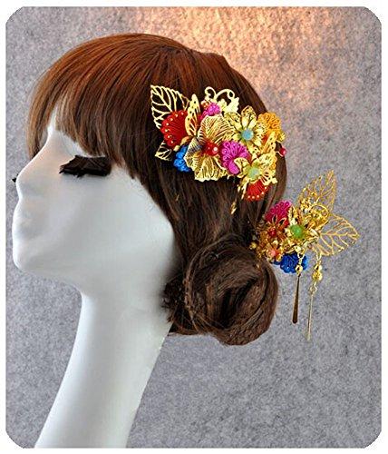 peignes traditionnels charme exquis de cheveux de mariage chinois, fleur