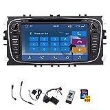 Doppel-DIN 7 Zoll HD Touchscreen Autoradio DVD Player GPS bereit Sat NAVI mit Bluetooth-USB / SD AM FM Radio Auto-Logo gew?hlt Audio-Steuerger?t f¨¹r Ford Focus Mondeo S-max Galaxy + Fernbedienung + canbus