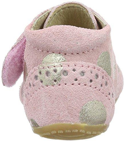 Living Kitzbühel - Baby Klett Leder Mit Goldernen Punkten, Pantofole Bimba 0-24 Pink (Kristallrosa)