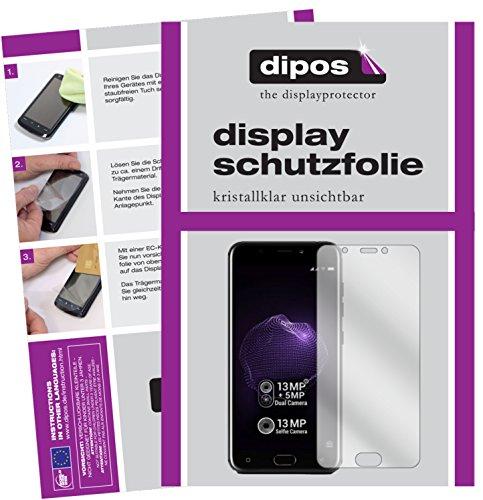 dipos I 2X Schutzfolie klar passend für Allview X4 Soul Folie Bildschirmschutzfolie