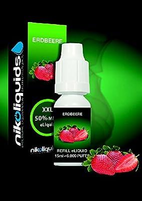 shisha-liquid 15ml (Erdbeere Nikotinfrei) von nikoliquids