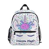 Sac à Dos préscolaire Unicorn pour Filles Magic Star Mini Sac à Dos pour Tout-Petit Enfants Cartables