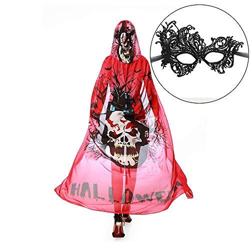Kostüm Red Skull Cosplay - Dayyly Schmetterlings-Schal für Frauen Mädchen, Chiffon-Umhang mit Schmetterling, für Halloween, Party, Cosplay, Accessoire, Kostüm, Strandtuch Red Skull
