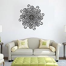 gossipboy DIY pared vinilo adhesivo negro–Mandala patrón de flor mandala Mantra (57x 57cm)–inspirado Pared Arte Decal Mural para decoración del hogar