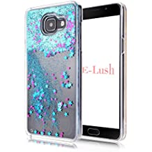 Funda Samsung A5 2016,E-Lush[Liquid Crystal] Bling Purpurina llamativa Funda Protectora Dura Anti-rasguño y a Prueba de Golpes Bumper [Semi-transparent Quicksand] Ligero Funda para Samsung A5 2016