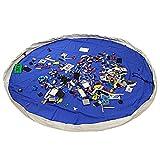 LEADSTAR Segeltuch Kinder Spielmatte Aufräumsack Spieldecke Spielzeug Speicher Tasche 150cm - Blau
