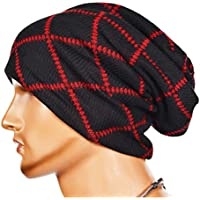 Lavorare a maglia di lana a righe caldo Cappello - iParaAiluRy unisex di lusso alla moda Cappellino morbido Slouchy Cap Hip-Hop in inverno e primavera