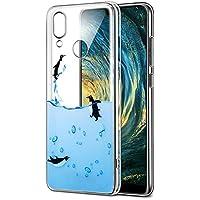 Funda Huawei P20 Lite, Eouine Cárcasa Silicona 3d Transparente con Dibujos Impresión Patrón Suave TPU Bumper Case Cover Fundas Movil para Huawei P20 Lite (Pingüinos)