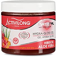 Activilong Natural Touch Gel Gloss Idratante Effetto Bagnato, con Ibisco e Aloe Vera Bio, 200 ml