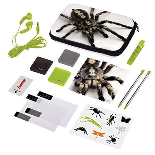 Hama Zubehör-Set für Nintendo 3DS XL, 13-teilig, Spider (inkl. Tasche, Schutzfolien, Kopfhörer, Stifte u.v.m.)