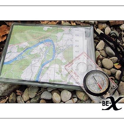 mit Rollverschluss und Klarsichtfläche BE-X Wasserdichte Kartentasche 28x18cm