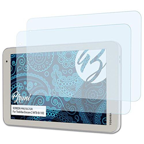 Bruni Schutzfolie kompatibel mit Toshiba Encore 2 WT8-B-102 Folie, glasklare Bildschirmschutzfolie (2X)